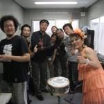 2010/7/4新宿BLUES NIGHT楽屋にて